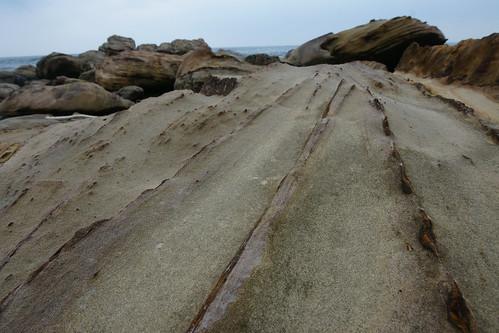 奇岩。放射線