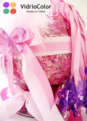 ZOOM Copón rosa y mariposas