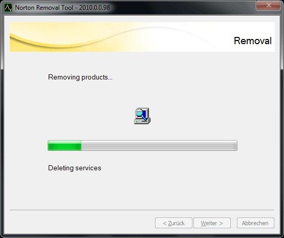 Norton Removal Tools - Schritt 5: Norton Software Dateileichen entfernen