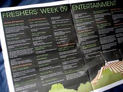 Freshers' Week 09
