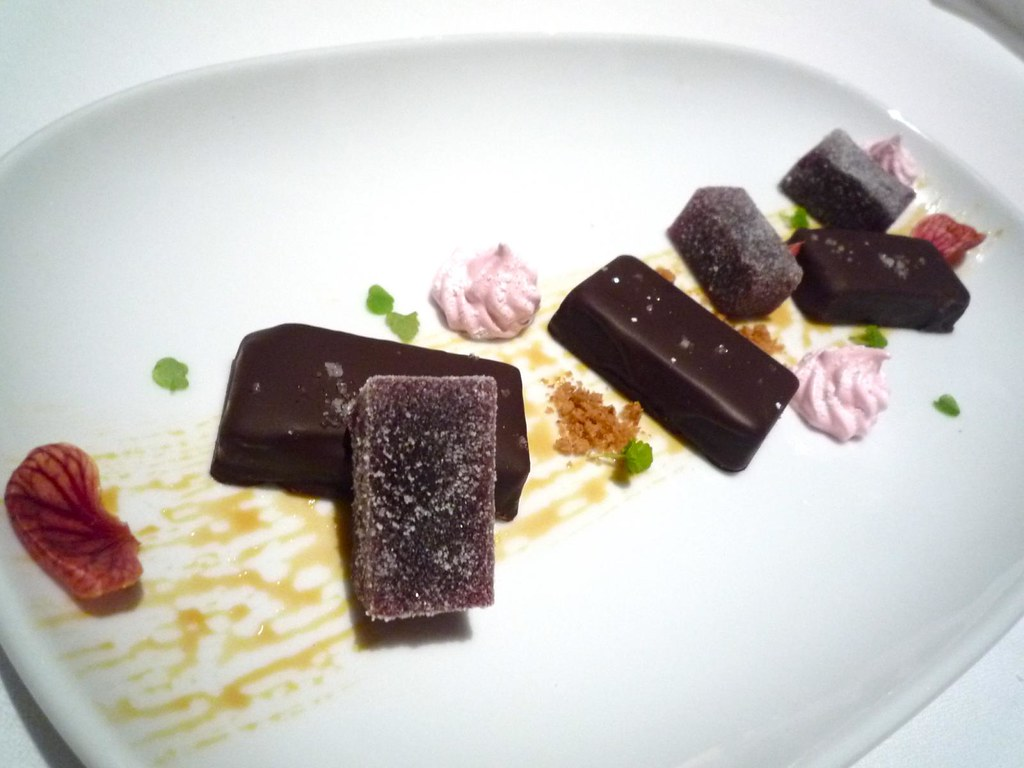 Salted caramel, plum jellies