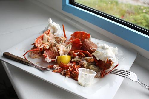 Crayfish Scraps at Nins Bin