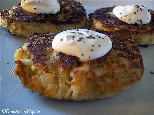 Apple-Cheddar Smashed Potato Pancakes