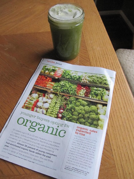 Green Juice with Organic Article
