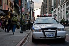 4448 (_Esc) Tags: nyc sunset ny glass lines buildings nikon crossing skyscrapers manhattan wide 34thstreet pedestrian sidewalk policecar stores sephora sigma1224 d700