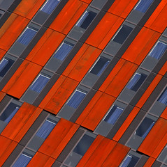 uniformity (foto.phrend) Tags: blue orange abstract architecture square leeds diagonal uniformity conformity broadcastingtower 400d