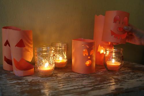 Makeshift Jack-o-Lanterns
