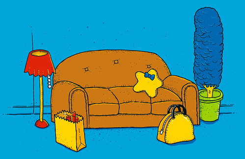 Thumb Dibujo de Los Simpson como naturaleza muerta: Springfield Still Life