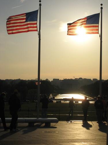 Flags at Sunset