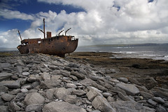 The Plassey - The Aran Islands (An diabhal glas) Tags: ireland sky irish west green field rock work landscape island rebel islands coast three rust ship accident iso400 doolin scenic dramatic cargo irland eire cliffs na shipwreck dreams patch stranded inisheer aran moher smallest irlanda inis 1960 the ire plassey arans mein carraig efs1785 rebelxti orr finise hireann inisoirthir smallist inisthiar hrainneacha rearisland