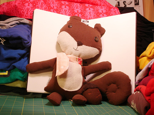 A Plush A Day Challenge: Day 12 & 13 - Squirrel & Acorn