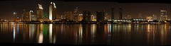 Reflections of downtown San Diego - panorama (San Diego Shooter) Tags: panorama sandiego sandiegocityscape downtownsandiegopanorama