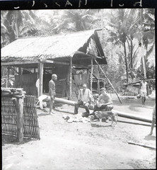 Fenton Kilkenny and local residents in a Halmahera village