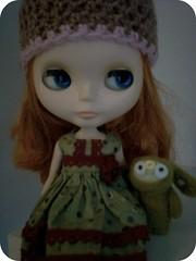 Bridget and a woodland friend