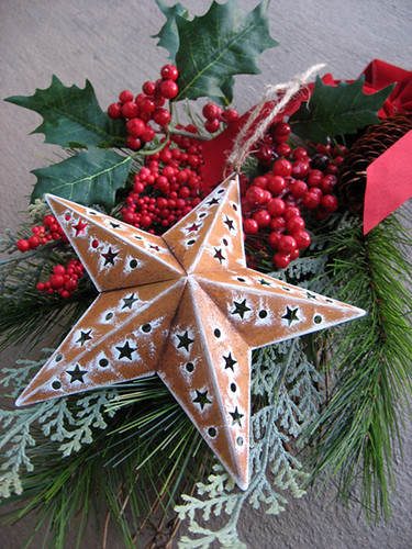 Rustic Star Cut-out Ornament