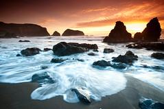 Sunset at Rodeo Beach (canbalci) Tags: ocean sanfrancisco california sunset sea nature landscape rocks waves explore pacificocean frontpage rodeobeach