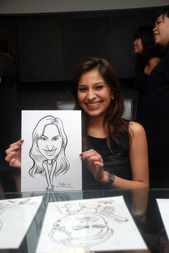 Caricature live sketching for Johnson & Johnson - 1