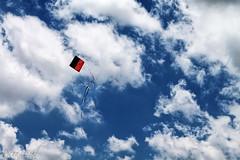 Kite (DiegoTeschi) Tags: blue sky kite azul clouds canon cu nuvens pipa 500d diegoteschi t1i