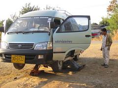 Broken minibus