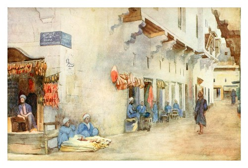 029-Sharia-El-Kerabiyet o calle del transporte de agua en el Cairo-Cairo, Jerusalem, and Damascus..1907- Margoliouth D. S.