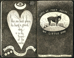 Boris (pageofbats) Tags: dog moleskine illustration ink inmemory heaven heart frenchbulldog handlettering handdrawntype petloss