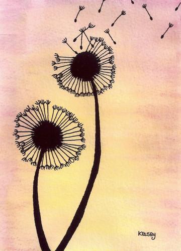 Dandelions (5x7in)