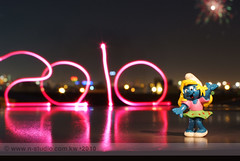 Happy New Year 2010 (SanforaQ8) Tags: camera new blue lens happy 50mm photo nikon year cartoon picture free photographers pic finepix fujifilm kuwait smurf kw 2010 q8 s5pro sanfora nstudiolivecom wwwnstudiocomkw 66383666