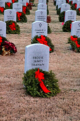 No Greater Gift (wyojones) Tags: christmas decorations usa cemetery graveyard army liberty freedom us memorial remember texas military navy sailors houston honor headstones graves evergreen national granite wife service marines np wives airforce wreaths tombstones markers bows veterans sacrifice remembering holidayseason redandgreen honoring soilders airmen armyaircorps nationalcemetery houstonnationalcemetery aircorps militarycemetery redbows graditude wyojones froziejamestrahan charliejbrown kathyrnsthompson isaukagsantos elroyeullrich