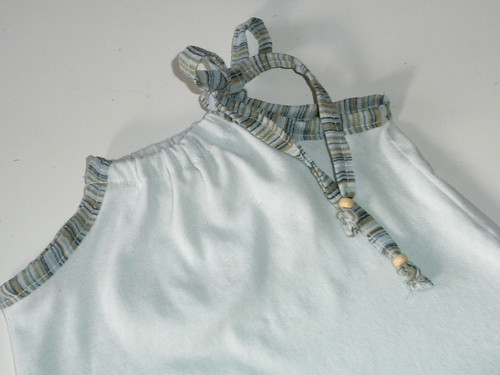 Blue baby dress, detail