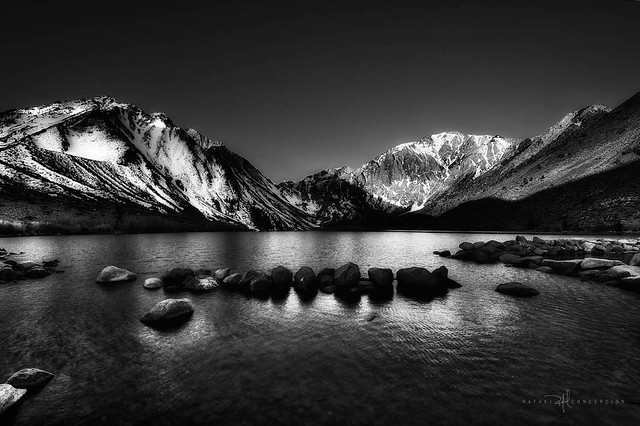 Convict Lake, in Black and White