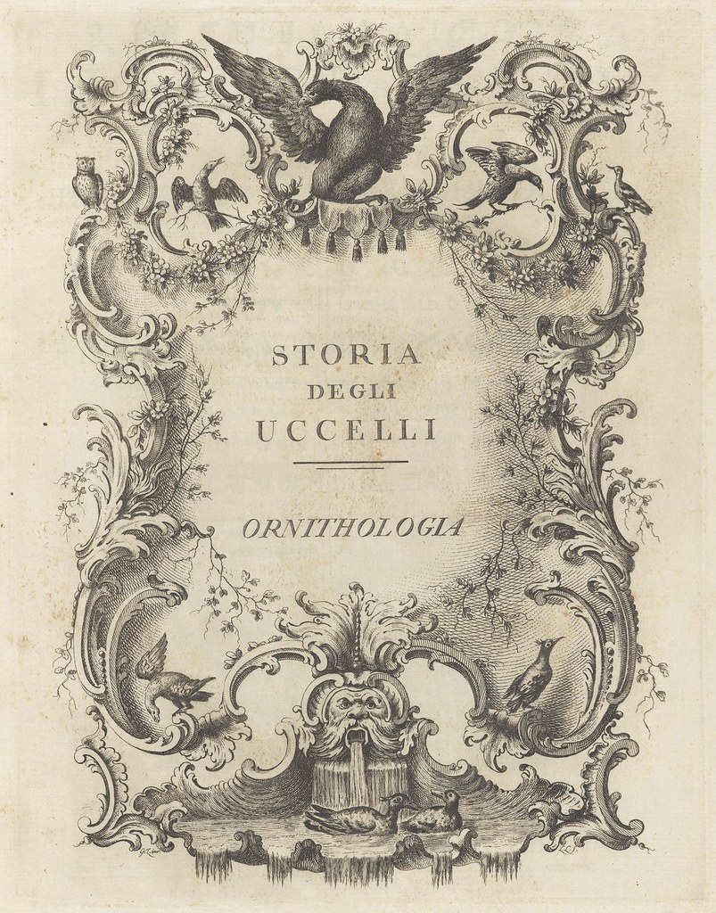 Ornithologia methodice digesta by Saverio Manetti 1776 (title page - cropped)