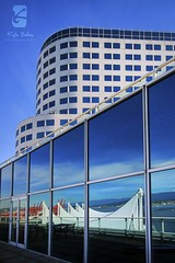 The Many Faces of Canada Place (Kyle Bailey - Da Big Cheeze) Tags: blue windows reflection glass architecture vancouver sails canadaplace hdr hightdynamicrange kylebailey rookiephoto wwwrookiephotocom vancouverconvetioncentre