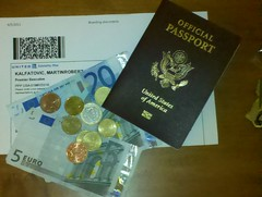 Money, tickets, passport by martin_kalfatovic
