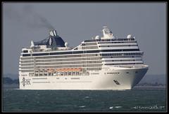 MSC Orchestra (leightonian) Tags: uk island boat ship unitedkingdom isleofwight solent cruiseship gb isle cowes wight iow