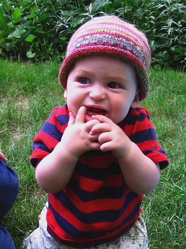 Self-striping baby hat 1