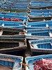 Blue Boats (sparkeypants) Tags: africa wood travel blue abstract canon geotagged boats boat fishing row morocco maroc fishingboats essaouira blueboats lpfloating