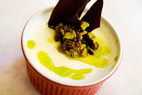 pistachio panna cotta