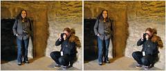 Elaine and Stuart (Dan (aka firrs)) Tags: stereoscopic 3d crosseye photographer stereo stereopair crossview craigmillar em20090718
