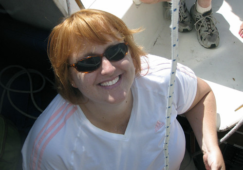 Jeri on boat