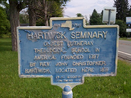 New York Historical Marker - Hartwick Seminary