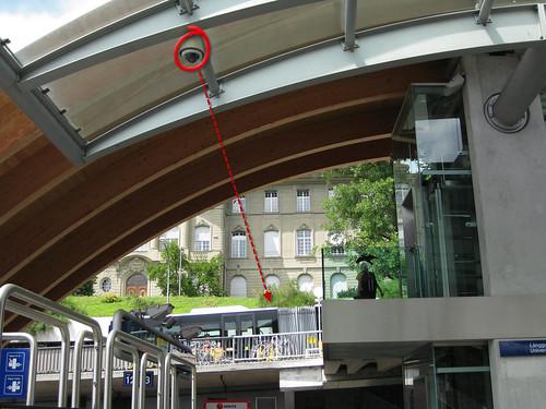 Videokamera Bahnhof Bern,