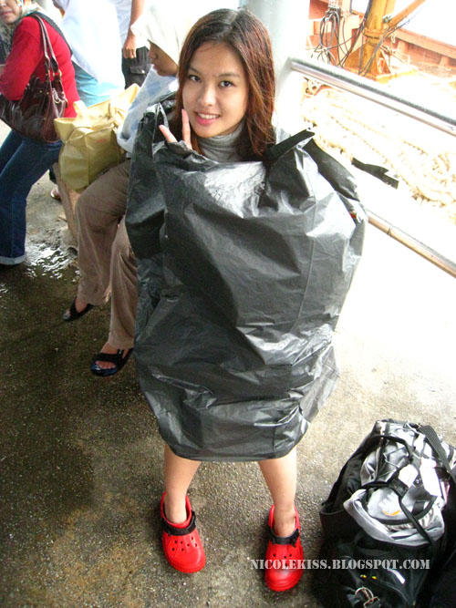 me in plastic bag