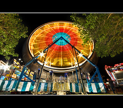 Frozen Motion (Ryan Eng) Tags: carnival stars lights hawaii oahu spin ferriswheel dri flares lightstreaks longexposures sigma1020mm digitalblending passengercars nikond90 ryaneng waipiogentrypark