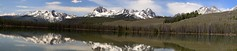 Stitched shot of the Sawtooth Mountains near Little Redfish Lake, Idaho (view on large) (Alaskan Dude) Tags: travel mountains nature landscape lakes panoramas idaho stanley americanwest sawtooth sawtoothmountains littleredfishlake