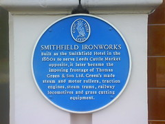 Photo of Smithfield Ironworks, Smithfield Hotel, and Thomas Green blue plaque