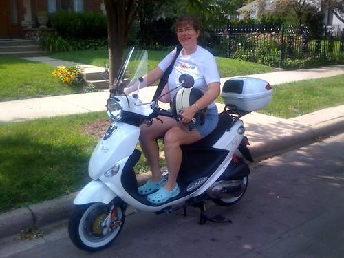 Stephanie's New Scooter