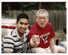 Dad and Andrew (Invisible Hour) Tags: 120 mamiya film ii pro medium format rz67