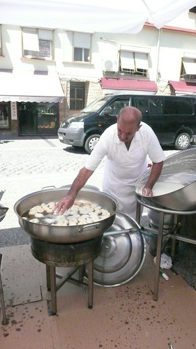 frying up donuts