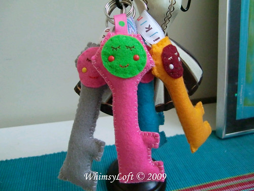 Miss Smiley Plush Key Holder4