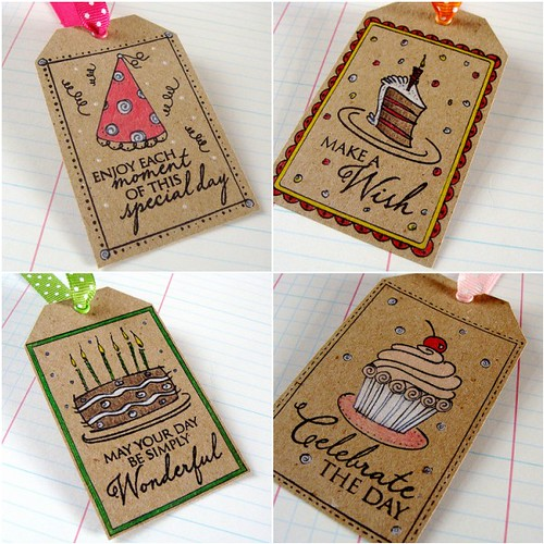 Color It Challenge - Kraft Gift Tags